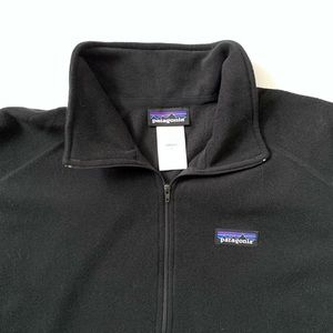 Patagonia Black Turtle Neck 3/4 Zip Sweater